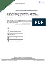 Luth_1998_On Humboldt's Theory of Bildung.pdf