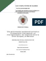 Una Aproximación Socialconstructivista a La Cooperación Interregional y El Interregionalismo Las Relaciones Entre La UE y El Mercosur