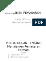 MANAJEMEN FARMASI MANAJEMEN+PEMASARAN