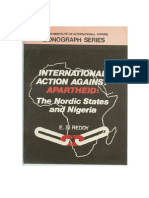 Nordic States, United Nations and Nigeria in action against apartheid