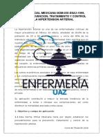 Nom-030-Ssa2-1999 Para La Prevencion, TX y Control de La Hipertension Arterial