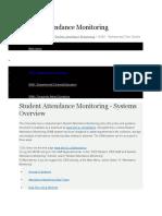 Student Attendance Monitoring