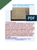 Ratificación de Las Patentes Del Linaje Jean Maine