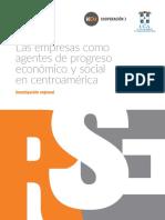 Las empresas como agentes de progreso económico y social en Centroamérica Investigación regional