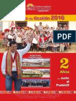 GobiernoRegional Cusco - Revista Informe de Gestión 2016