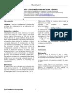 Fisicoquímica Farmacéutica. Práctica 1. Re-cristralización Del Ácido Salicílico