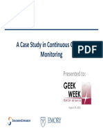A Case Study in Continuous Controls Monitoring