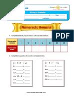 Numeração Romana Ficha