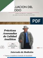 Evaluacion Del Metodo. Linealidad( Intervalo de Medicion)