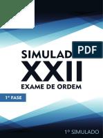1o Simulado 1a Fase XXII OABdeBolso