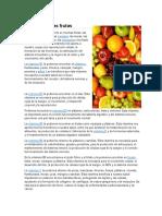 Vitaminas de Las Frutas
