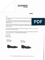 Dunnes Stores Recall Letter