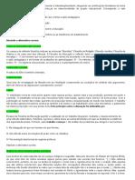 Simulados de Filosofia Da Educação Brasileira