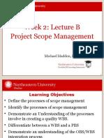 PJM6000 Week 2 (Lecture 2B)