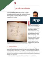 10 reglas para hacer diseño editorial | Mario Balcázar | FOROALFA
