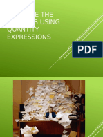 Describe the Pictures Using Quantity Expressions