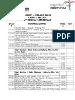 Bromo – Malang Tour 5h 2m by Kereta Mataremaja