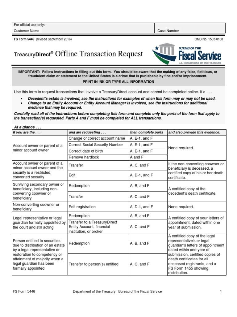 Sav 5446 United States Treasury Security Securities Finance