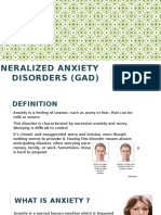 Generalized Anxiety Disorders (GAD)