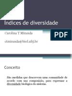 Aula Indices de Diversidade 04.11.2010