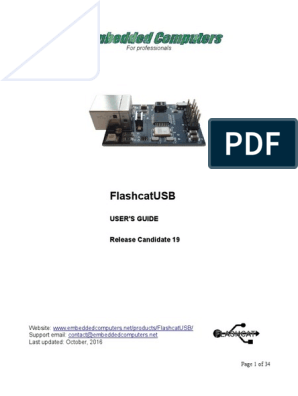 FlashcatUSB Manual | Flash Memory | Command Line Interface