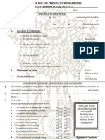 Persons with disabilities form