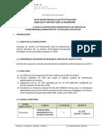 Convocatoria CAS 05 JEC - CARE 1