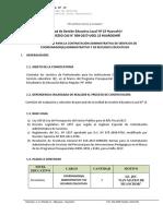Convocatoria CAS 09 JEC - CARE 5
