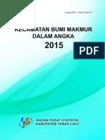 Kecamatan Bumi Makmur Dalam Angka 2015