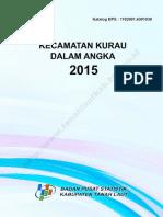 Kecamatan Kurau Dalam Angka 2015