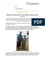 2016 - 09 September Caqalai Achievement Report- Lomaiviti Provincial Council Meeting