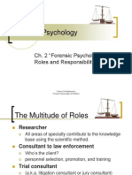 Chapter 2 - Forensic Psychologists