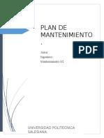 Plan de Mantenimiento de Una Retroexcarvadora