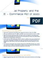 Report on E-Commerce Act