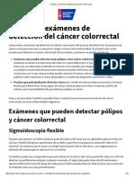 Pruebas y Exámenes de Detección Del Cáncer Colorrectal