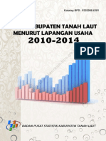 PDRB Kabupaten Tanah Laut Menurut Lapangan Usaha Tahun 2012 2014
