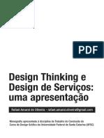 Design Thinking e Design de Serviços - Uma Apresentação