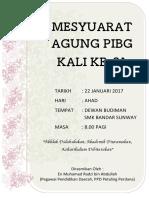 Buku Program Mesyuarat PIBG 2017