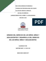 GÉNESIS DEL DERECHO DE LOS NIÑOS, NIÑAS Y ADOLESCENTES Y DESARROLLO DEL DERECHOS DE LOS NIÑOS, NIÑAS Y ADOLESCENTES