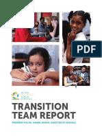 Transition team report