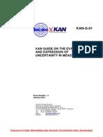 G 01_KAN Guide on Measurement Uncertainty (en)