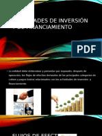 Actividades de Inversión y de Financiamiento