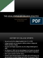 the legal status of college athletes
