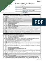 Blank - Malaria Modules Questionnaire - Rev Dec 2012