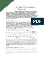 Medidas de Dispersión Varianza y Desviacion