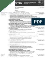 Current Resume - June 2011
