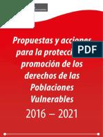 Propuestas Acciones Proteccion Promocion Derechos Poblaciones Vulnerables