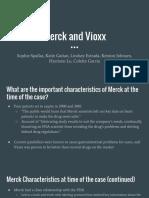 Merck and Vioxx