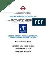 Tutoria Espacios Públicos - Marco Guncay