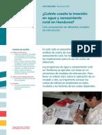 Irc 2015 Nota Resumen Cuanto Cuesta La Inversion en Aps en Honduras